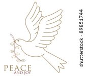 The Dove Of Peace In Flight In...