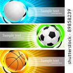 banners with ball | Shutterstock .eps vector #89858239