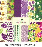 12 Abstract Floral Backgrounds