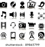 set from twenty multimedia icons | Shutterstock .eps vector #89865799