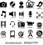 set from twenty multimedia icons | Shutterstock .eps vector #89865799