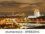 Moscow night - stock photo
