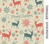 seamless background with deer | Shutterstock .eps vector #89904661