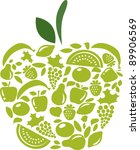 apple with fruits and... | Shutterstock .eps vector #89906569