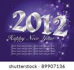 happy new year | Shutterstock .eps vector #89907136