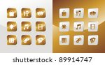 entertainment icons glossy set... | Shutterstock .eps vector #89914747