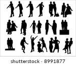 business people silhouettes | Shutterstock .eps vector #8991877