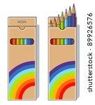 set of pencils on box vector...   Shutterstock .eps vector #89926576