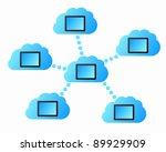 cloud computing | Shutterstock .eps vector #89929909
