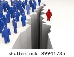 gender gap with men on one side ... | Shutterstock . vector #89941735