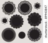 elegant crochet lace classic... | Shutterstock .eps vector #89943847