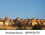 The old city of Bergamo, Italy - stock photo