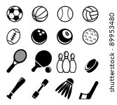 sports icons | Shutterstock .eps vector #89953480
