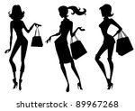 three fashionable girl...
