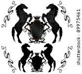 Heraldic Shields With Black...