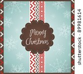 stylized christmas card | Shutterstock .eps vector #89981614