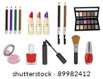 make up and cosmetics vector...   Shutterstock .eps vector #89982412