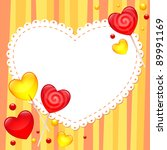 valentine's day greeting card... | Shutterstock .eps vector #89991169