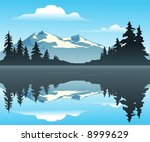 mountain lake   an outdoor... | Shutterstock .eps vector #8999629
