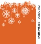 christmas background with...   Shutterstock .eps vector #90002452