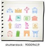 sketchbook series   travel... | Shutterstock .eps vector #90009619
