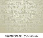 vector silver circuit board... | Shutterstock .eps vector #90010066