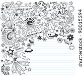 hand drawn superstar scribble... | Shutterstock .eps vector #90015394