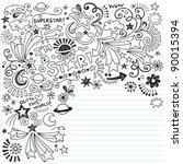 hand drawn superstar scribble... | Shutterstock .eps vector #90015394
