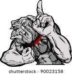 animal,body,bulldog,cartoon,champion,claw,dog,finger,flex,flexing,growl,head,high school,icon,illustration