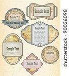 vintage style labels on... | Shutterstock .eps vector #90026098