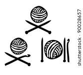 ball,black,clue,crochet,decorative,design,domestic,drawing,element,habit,hand,handicraft,hobby,hook,icon