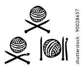 ball,black,clue,crochet,decorative,design,domestic,drawing,element,habit,hand,handicraft,hobby,hook,icon