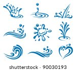 water icons | Shutterstock .eps vector #90030193