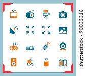 media icons | Shutterstock .eps vector #90033316