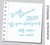 equation | Shutterstock .eps vector #90040213