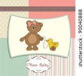 Welcome Baby Card With Girl...