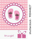 Baby Girl Announcement Card....