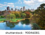 new york city central park in... | Shutterstock . vector #90046081