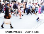 shopping people walking on the... | Shutterstock . vector #90046438