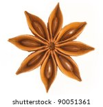 whole star anise isolated on... | Shutterstock . vector #90051361