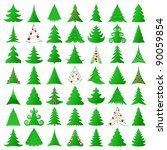 symbolic christmas trees... | Shutterstock .eps vector #90059854