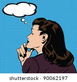 illustration of a thinking... | Shutterstock .eps vector #90062197