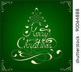 elegant calligraphic merry... | Shutterstock .eps vector #90064888