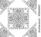 corner elements and nice rosette | Shutterstock .eps vector #90066067