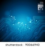 circuit board technology... | Shutterstock .eps vector #90066940