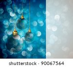 christmas lights and spheres  ...   Shutterstock . vector #90067564