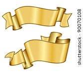 gold ribbon collection | Shutterstock .eps vector #90070108