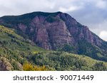 Forest taking over the mountains. Colorado,USA. - stock photo
