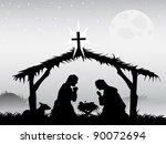nativity scene vector | Shutterstock .eps vector #90072694