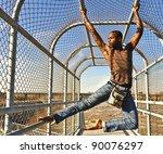 african american man hanging... | Shutterstock . vector #90076297